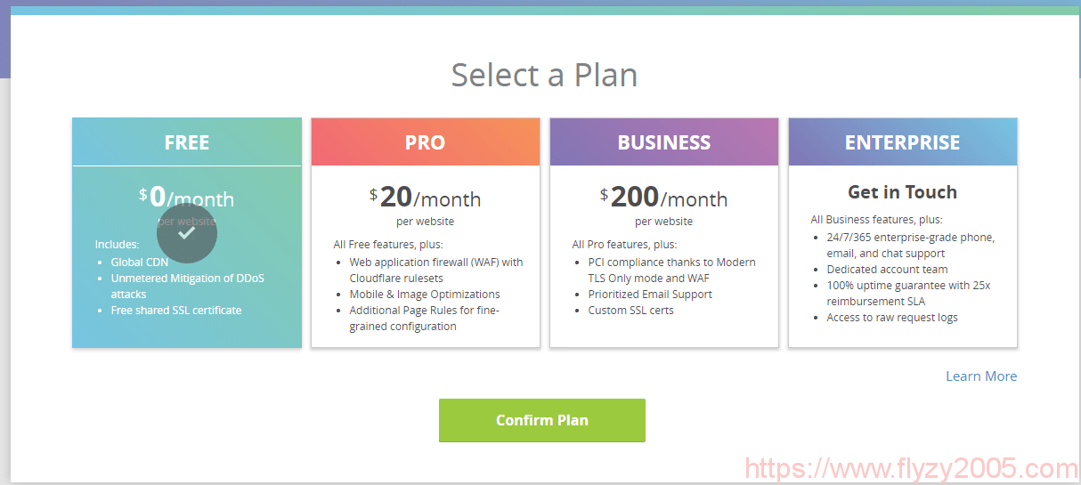 cloudflare-cdn-select-plan