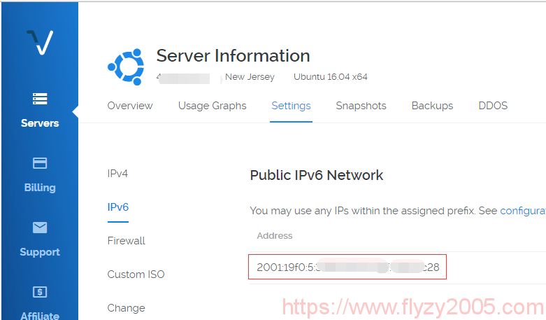 vultr-ipv6-address