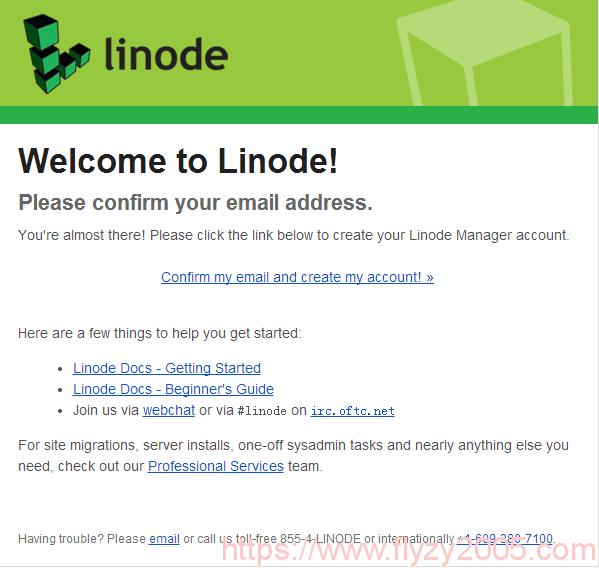 Linode新用户邮件