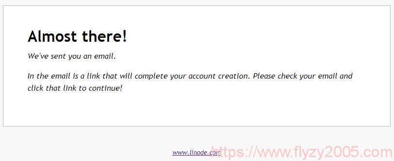Linode新用户提示