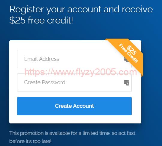 Vultr新用户注册送25美元