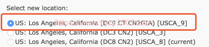 搬瓦工切换至DC9